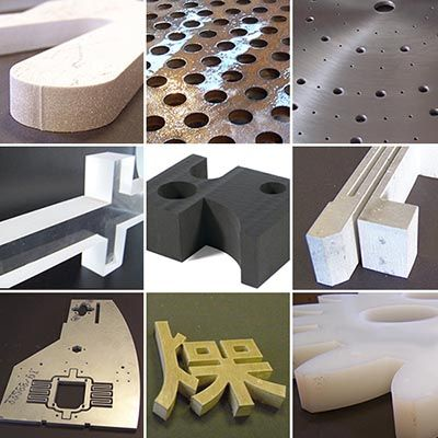 What materials can be waterjet cut?